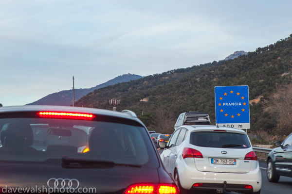 Massive queues crossing Spain-France Border