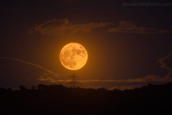 Supermoon rising over Parc Collserola