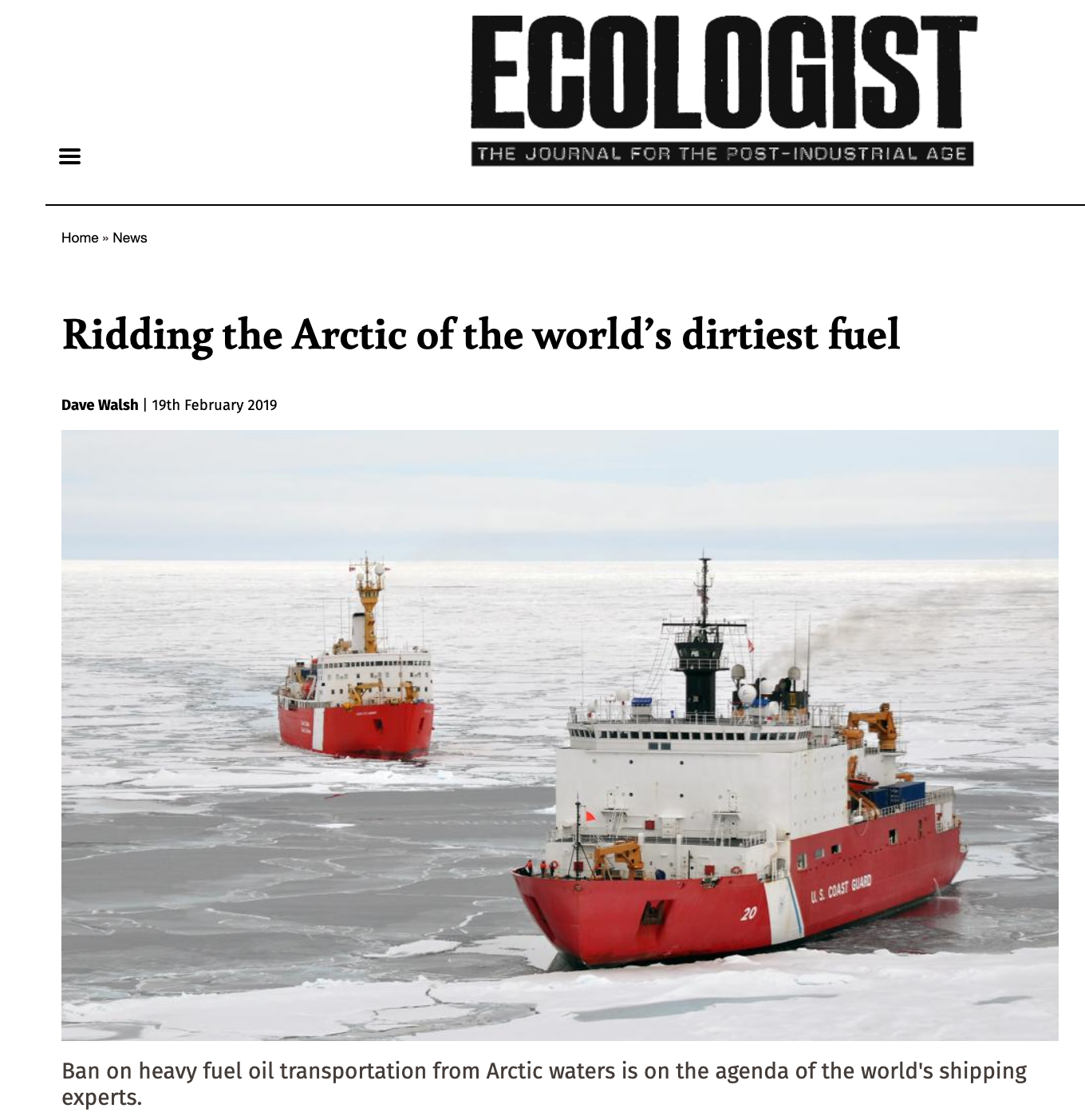Ridding the Arctic of the world's dirtiest fuel